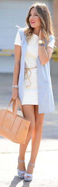 Denim Waist Coat / Fashion By Helena