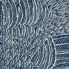 """Found it at Wayfair - Drawn from Nature Featherfest 13.5' x 27"""" Wallpaper Roll"""