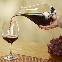 Although I always use my aerator for reds, I love the look of this thumb decanter. It looks like it would be easy to handle and allow for easy pouring.