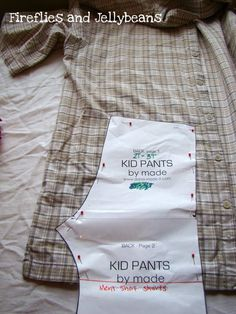 Fireflies and Jellybeans: Summer Sewing for BOYS!! Mens shirt into boys shorts