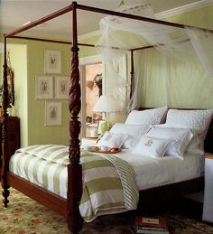 Country Interiors, this bed looks amazing with all of the detail.