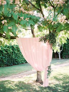 Blush pink wedding reception decor: http://www.stylemepretty.com/2015/12/15/summer-blush-peach-wedding-in-portugal/   Photography: Brancoprata - http://www.brancoprata.com/