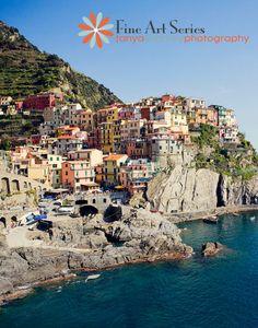 Travel Photography Manarola Cinque Terre Italy by TanyaSharkey