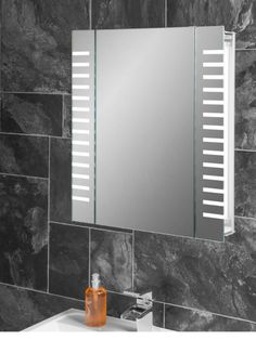 Platinum LED Bathroom Demister Cabinet