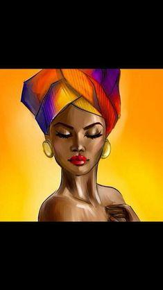 Painting J Painting J art drawings Black Girl Art, Black Women Art, Art Girl, Afrique Art, African Art Paintings, Art Watercolor, Black Art Pictures, Black Artwork, Afro Art