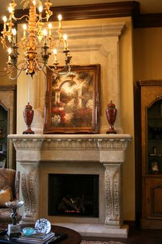 Valencia Fireplace Mantel - The revival of great artisanship is the essence of Renaissance cast stone