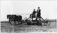 Photo showing how a horse drawn road grader would have been used.   This photo is from the Department of the Interior. Bureau of Indian Affairs. Standing Rock Agency. (1947) and was found at http://commons.wikimedia.org/wiki/File:Two_Indians_on_horse_drawn_road_grader_-_NARA_-_285802.jpg ... photo is in the public domain