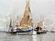 Watercolour-Acuarela-Corneliu-Dragan-Targoviste-peisaj-marin-10