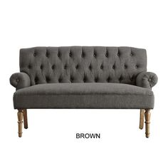 iNSTANT HOME Hermosa Tufted Upholstered Settee & Reviews | Wayfair