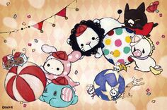 Sentimental Circus, Chibi Food, Circus Party, Cute Chibi, Disney Characters, Sanrio Characters, Fictional Characters, Fairy Tales, Hello Kitty
