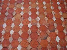 Carrelage sol terre cuite 20 x 20 cm castorama terre for Tomettes hexagonales castorama