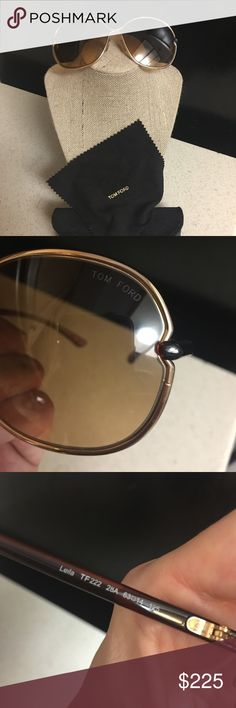 Tom Ford Leila Sunglasses Excellent condition. No scratches AT ALL. Goldtone hardware, brown lenses, brown ombré temples. Comes with case and cleaning cloth. Purchased from Nordstrom. Like new. Tom Ford Accessories Sunglasses