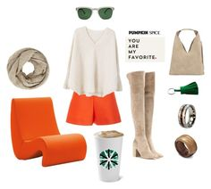 """Creamy Autumn"" by eimerchef ❤ liked on Polyvore featuring Vitra, Delpozo, MANGO, INZI, John Lewis, Hermès, Gianvito Rossi, Quattrocento, Sur La Table and pss"