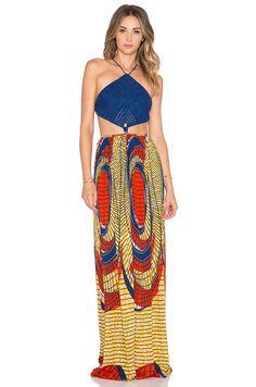 Indah Revel Crochet Maxi Dress in Shield | REVOLVE