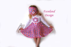 Girls twirl skirt from FEENLAND Design; Rock Zauberblume von krabbelkee collection by Feenland auf DaWanda.com