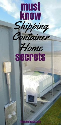 Building Sustainable Homes with Shipping Containers - The Shipping Container Home Guide #freecycleusa #containerhome #shippingcontainer