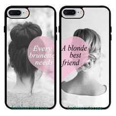 Every Brunette Needs a Blonde Best Friend Couple Rubber Case For iPhone 8 7 6S #UnbrandedGeneric