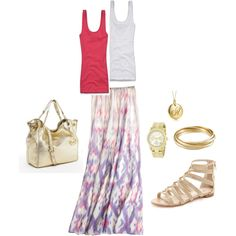 Casual Summer Days, created by abonney on Polyvore