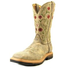 Amazon.com | Twisted X Women's Floral Stitched Roughstock Cowgirl Boot Steel Toe - Wlcs002 | Mid-Calf