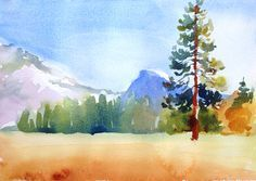 Step 3 for Watercolor Landscape Painting