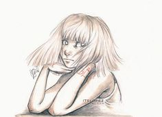 @itslopez drawing of Chandelier - Sia