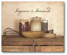 Farmhouse Canvas Happiness is Homemade Graphic Art on Wrapped Canvas