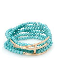 DejaVu — Beaded Cross Bracelet