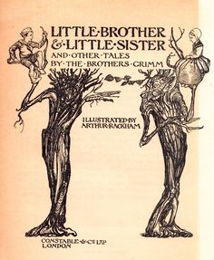 Little Brother & Little Sister and Other Tales by the Brothers Grimm by Arthur RACKHAM, Jakob and Wilhelm Grimm on David Brass Rare Books Brothers Grimm Fairy Tales, Wilhelm Grimm, Collage, Fairytale Art, Fairytale Cottage, Arthur Rackham, Vintage Fairies, Little Sisters, Illustrators