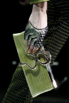 Armani Privé, spring 2012 couture #runway #details #clutch