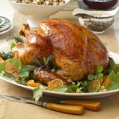 Tangerine-Glazed Thanksgiving Turkey Recipe