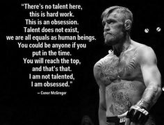 Talent is just hardwork and commitment in my book
