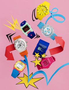 Bela Borsodi for Teen Vogue. Watches Photography, Still Life Photography, Creative Photography, Design Art, Graphic Design, Set Design, Layout Design, Swatch, Fashion Still Life