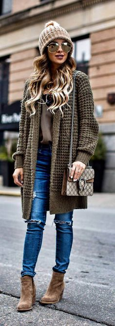 50 Best Gorgeous Casual Winter Outfits Ideas To Copy Right Now 2019 - Page 35 of 50 - Marble Kim Design Casual Winter Outfits, Winter Fashion Outfits, Fashion 2017, Look Fashion, Fall Outfits, Autumn Fashion, Fashion Trends, Street Fashion, Fashion Bloggers