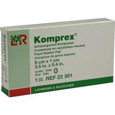 KOMPREX Schaumgummi Kompr.Grösse 0 nierenf:   Packungsinhalt: 1 St Kompressen PZN: 00591024 Hersteller: Lohmann & Rauscher GmbH & Co.KG…