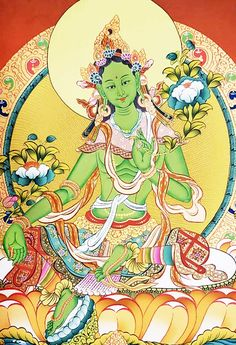Thangka Painting, Buddha Painting, Green Tara, Tibetan Art, Skin Colors, Sacred Art, Divine Feminine, Deities, Meditation