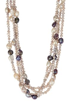 Assorted Freshwater Pearl Multi-Strand Necklace #handmadejewelry