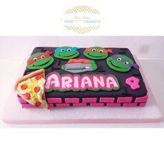 Girly ninja turtle cake super heroes cakes cookies Pinterest