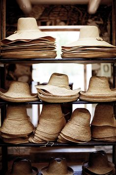 vacation ready straw hats.