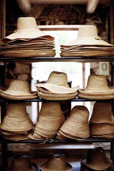 vacation ready straw hats.