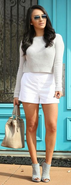 White And Grey Streetstyle