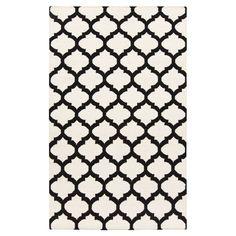Vivian Black/White Area Rug