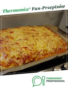 Pizza for a large baking tray is a recipe created by the user These… Pizza Pictures, Pizza You, Large Tray, Pizza Rolls, Chicken Pizza, Tray Bakes, Main Dishes, Homemade, Baking