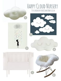 Do you want a nursery where you and your baby can float among the clouds? That's what inspired me today to create this cloud nursery style at herecomesbaby.co.uk