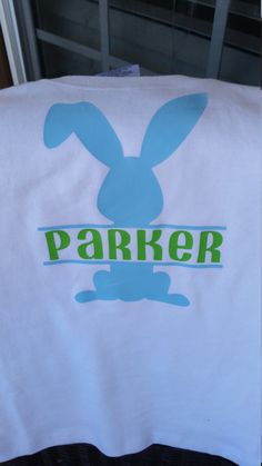 This is the perfect Easter vinyl monogram shirt for your little one! In the note to seller please provide the colors you would like and the initials in the order first, last, middle. Each item is handmade, Please allow up to 2 weeks to complete your order. If you need this item sooner please let me know in the notes to seller.  Please Wash inside out. If you have any questions, or have other ideas for a shirt please contact seller. Thank you for shopping at Three Sweet Ps