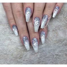"2,976 Likes, 14 Comments - Margarita (@margaritasnailz) on Instagram: ""☄❄️☄ • • #winternails #glitternails #nails #nailart #MargaritasNailz #coffinnails #nailfashion…"""