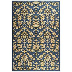 Safavieh Indoor/ Outdoor Seaview Natural/ Blue Rug (6'7 x 9'6) - Overstock™ Shopping - Great Deals on Safavieh 5x8 - 6x9 Rugs