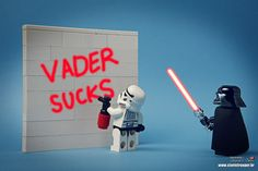 Busted by Darth Vader.   Stormtrooper pranks gone wrong!