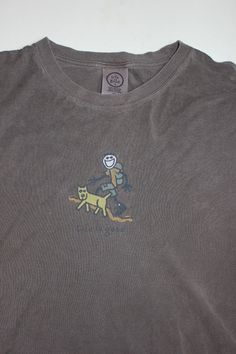 Life is Good Mens XL T-Shirt LS Rocket & Jake Hiking #LifeIsGood #LifeisGood
