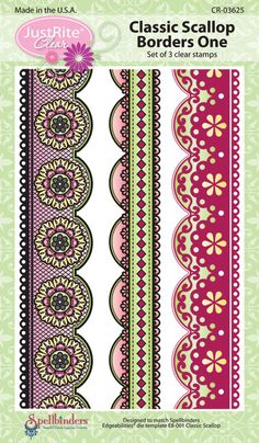Classic Scallop Borders One coordinates with Spellbinders E8-001 Edgeabilities Classic Scallop.