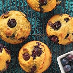 Gluten-Free Blueberry Muffins made with Coconut Flour